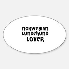 NORWEGIAN LUNDEHUND LOVER Oval Decal