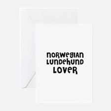 NORWEGIAN LUNDEHUND LOVER Greeting Cards (Package