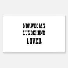 NORWEGIAN LUNDEHUND LOVER Rectangle Decal