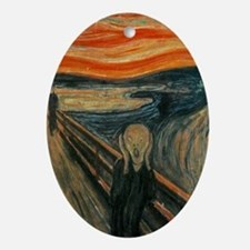 The Scream Oval Ornament