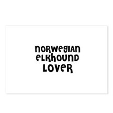 NORWEGIAN ELKHOUND LOVER Postcards (Package of 8)