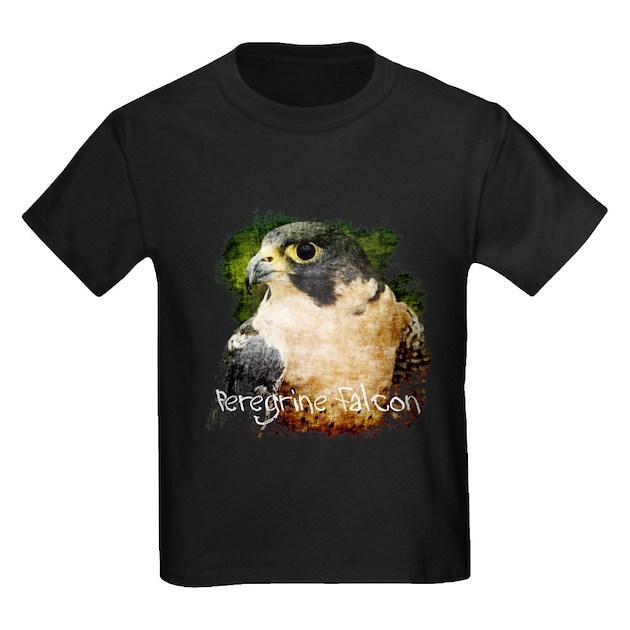 Women 39 S V Neck Peregrine Falcon Kids Dark T Shirt Kids