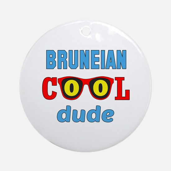 Bruneian Cool Dude Round Ornament