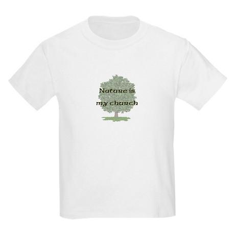 Nature is my church Kids T-Shirt