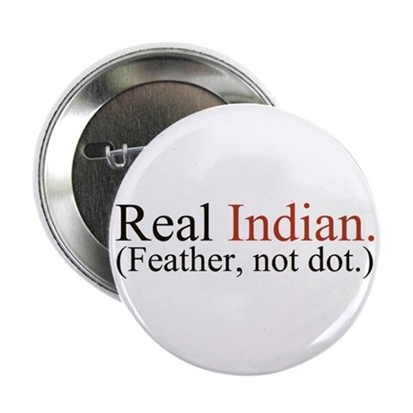 """""""Feather, not dot."""" 2.25"""" Button"""