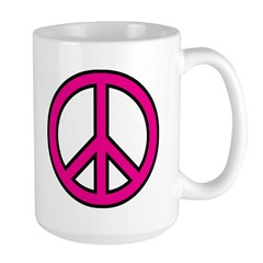 pink peace Mug