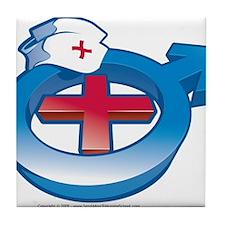 Men in Nursing Tile Coaster