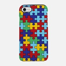 Autism Awareness Puzzle Piece Pattern iPhone 7 Tou