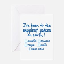 Happiest Places on Earth Greeting Card