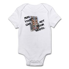 Run Car Not Mouth Infant Bodysuit