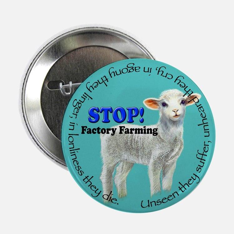 Stop Factory Farming Button