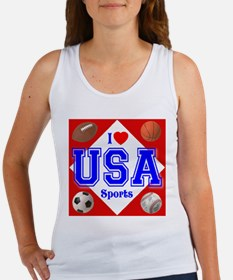 I Love USA Sports Women's Tank Top