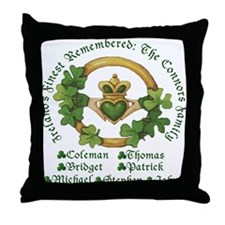 The Coleman Connors Family Throw Pillow