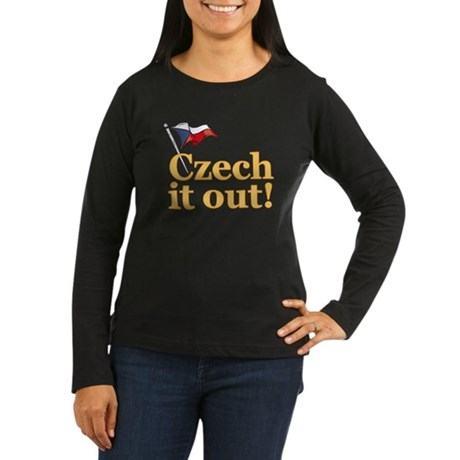 Czech It Out! Women's Long Sleeve Dark T-Shirt
