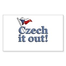 Czech It Out! Rectangle Decal