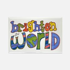 Brighten the World Rectangle Magnet (10 pack)