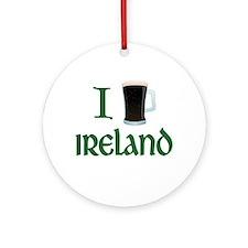 I Love Ireland (beer) Ornament (Round)