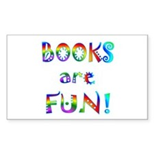 Books Rectangle Decal