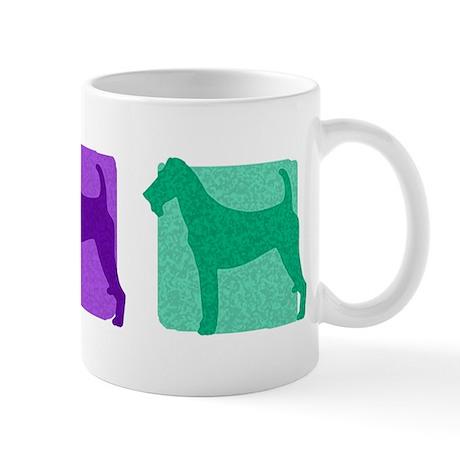Color Row Irish Terrier Mug