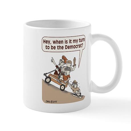 Democrats in Wagon Mug