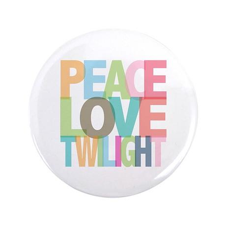 "Peace Love Twilight 3.5"" Button (100 pack)"