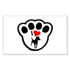 Patterdale Terrier Rectangle Decal