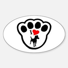 Patterdale Terrier Oval Decal