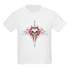 Sword Skull - RED T-Shirt