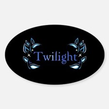 Twilight Floral Oval Decal