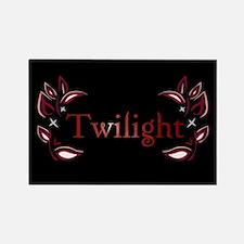 Twilight Floral Rectangle Magnet