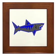 SHARK (2) Framed Tile