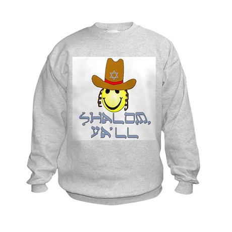 """""""Shalom, Ya'll"""" Kids Sweatshirt"""