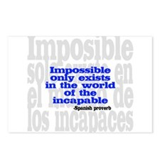 Impossible only exists... Postcards (Package of 8)