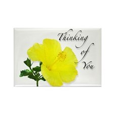 Yellow Hibiscus Flower Thinking of You Rectangle M