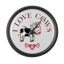 Cows Large Wall Clock