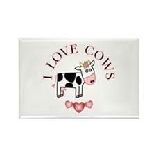 Cows Rectangle Magnet (100 pack)