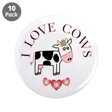 """Cows 3.5"""" Button (10 pack)"""