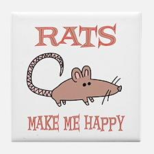 Rats Tile Coaster