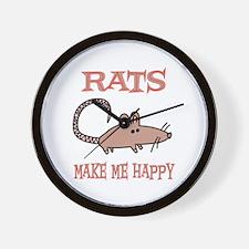 Rats Wall Clock