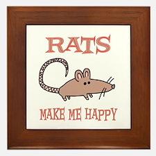 Rats Framed Tile