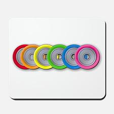 Wheel Rainbow Mousepad