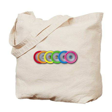 Wheel Rainbow Tote Bag