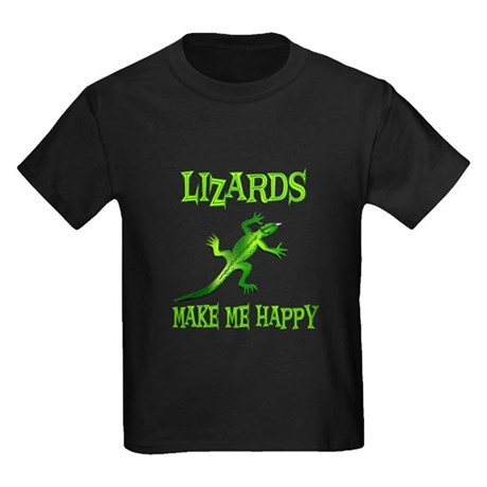 CafePress Lizards Kids Dark T-Shirt