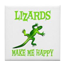Lizards Tile Coaster