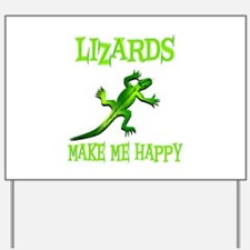 Lizards Yard Sign