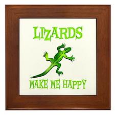 Lizards Framed Tile