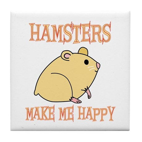 Hamsters Tile Coaster