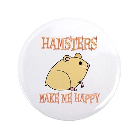 "Hamsters 3.5"" Button"