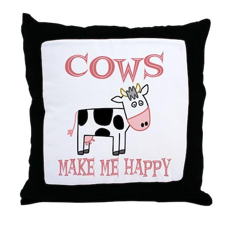 Cows Throw Pillow