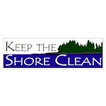 Keep the Shore Clean bumper sticker